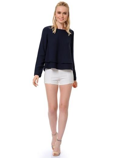 Vero Moda Uzun Kollu Bluz Lacivert